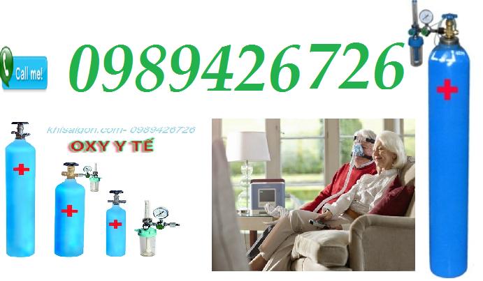 Cung cấp oxy y tế tinh khiết, oxy thở tiêu chuẩn tại nhà toàn TPHCM