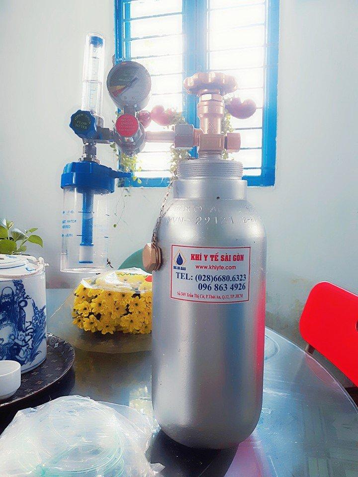bình khí oxy y tế nhỏ nhất