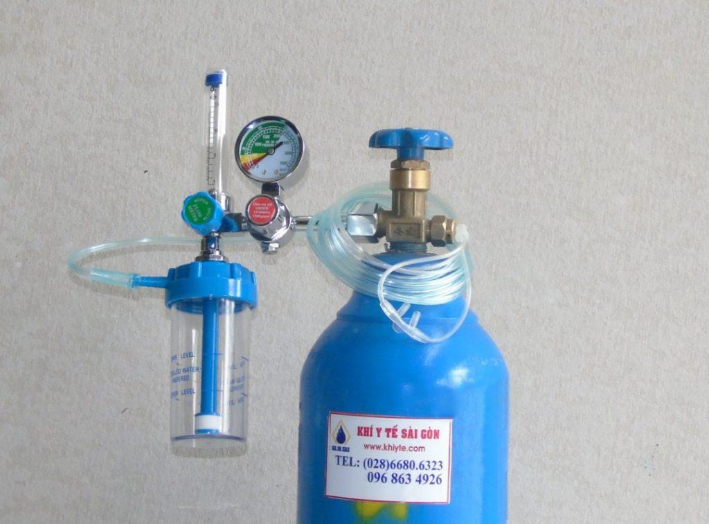 Bình khí oxy y tế 1 khối